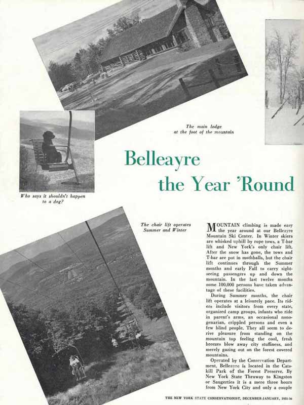 Belleayre Mountain Historic Articles